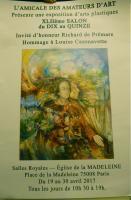 42ÈME SALON DU DIX AU QUINZE- AMICALE DES AMATEURS D'ART. , Thibault Boorsch Fabienne
